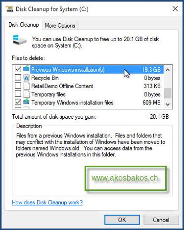Delete the Windows.old Folder After Windows 10 Upgrade 3