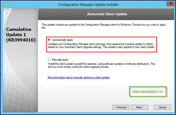 SCCM 2012 R2 Client Auto-Update Feature